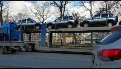 Автомобили дляостровных полицейских прибыли вЮжно-Сахалинск