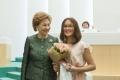 Сахалинка Алина Балабаева вошла вдюжину школьников, которым вручили паспорта вСовете Федерации