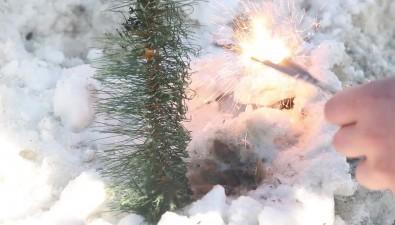 Sakh.com подприсмотром МЧСпопытался поджечь часть городской новогодней елки