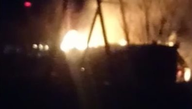 Четверть жителей Поронайска осталась безэлектричества из-за загоревшегося гаража