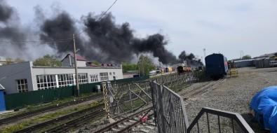 Пожар натерритории железнодорожного вокзала напугал южносахалинцев