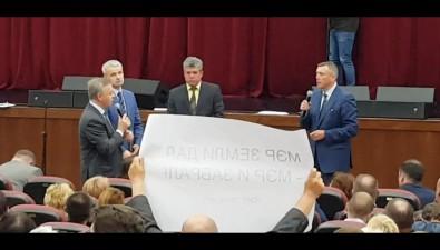 """СНТ """"Энергия"""" устроило митинг навстрече Лимаренко сжителями Дальнего"""