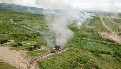 Беспилотник ЦТВС стал пораженной мишенью вовремя военных учений наСахалине