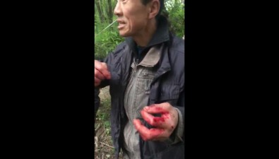 Иностранцы разделывали собаку наберегу реки впланировочном районе Южно-Сахалинска