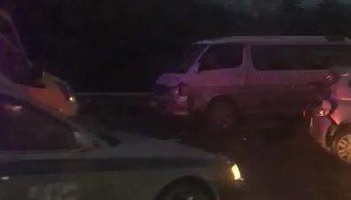 Три авто серьезно столкнулись накорсаковской трассе
