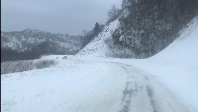 Дорога Огоньки— Невельск закрыта из-за транспортного затора