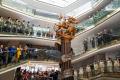 В Музее Победы открыли скульптуру Георгия Победоносца