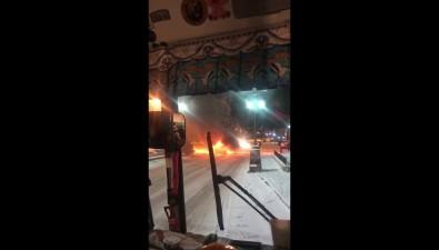 В Невельске горевшая машина осветила город