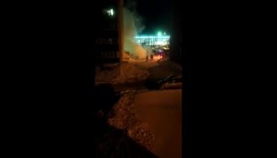 Европейский автомобиль горел ночью вНово-Александровске