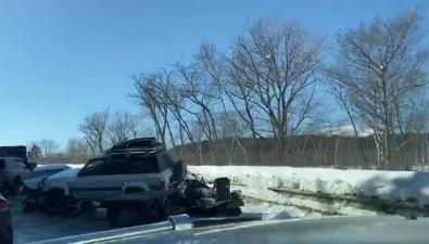 Пять автомобилей столкнулись наохотской трассе