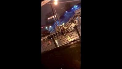 В Южно-Сахалинске автомобиль перевернулся напроспекте Мира, апотом упал сэвакуатора