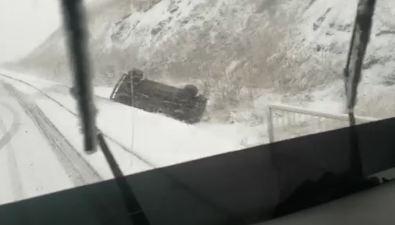 В Углегорске из-за резкого ухудшения погоды произошло ДТП