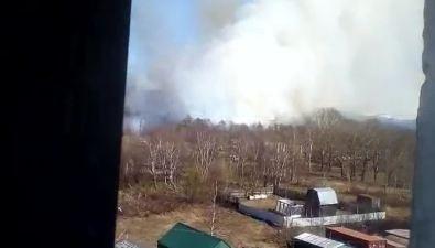 В районе Сокола сегодня тоже горела трава