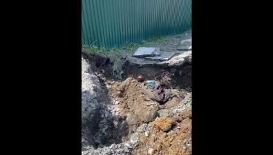 Газовики нашли останки человека наулице Инженерной вЮжно-Сахалинске