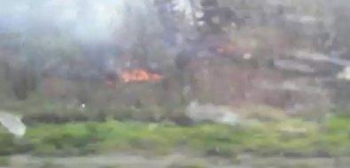 В Долинском районе горит трава