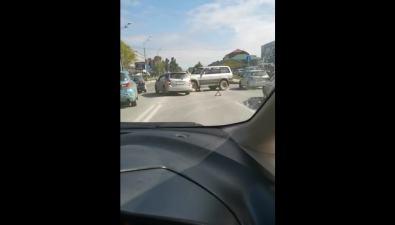 """На проспекте Мира столкнулись две""""Тойоты"""""""