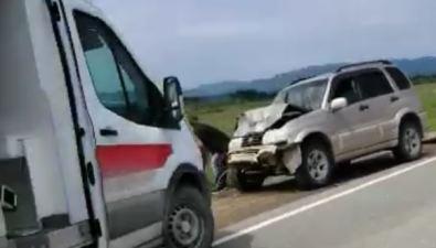 Сахалинец пострадал встолкновении двух внедорожников вДолинском районе