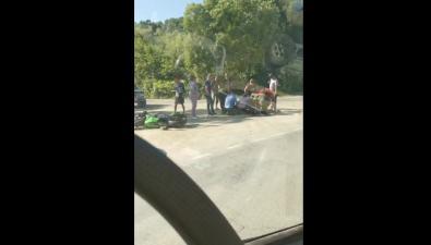 Мотоциклист попал ваварию заТроицким