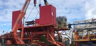 На севере Сахалина примонтаже бурового оборудования повредили двакрана