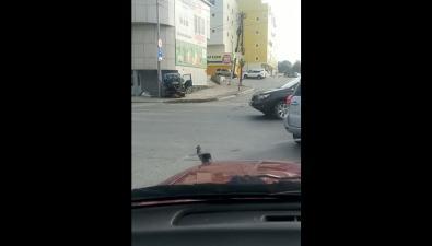 Илосос илегковушка неподелили дорогу вЮжно-Сахалинске