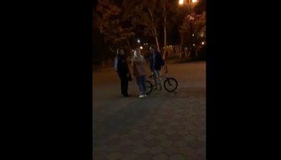 Охранник Чехов-центра матом ируками гонял молодых экстремалов