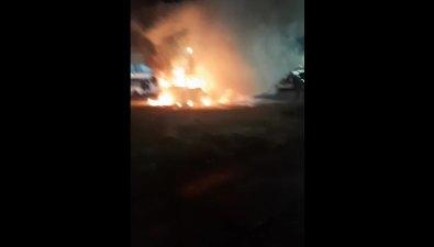 Муниципальный автобус сгорел утром вЮжно-Сахалинске