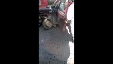 """""""Нива"""" врезалась вжилой домна улице Ленина вЮжно-Сахалинске"""