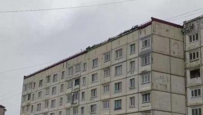 Не всекрыши истройки наСахалине стойко переносят циклон