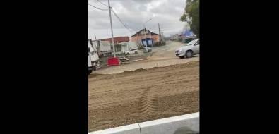 Строители задорно открывают мост через Красносельскую вЮжно-Сахалинске