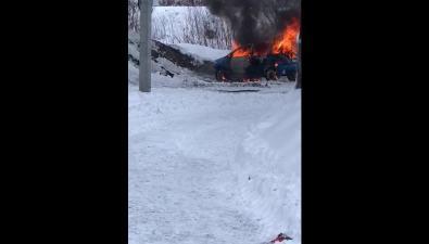 Toyota ist загорелась возле кочегарки вСоколе