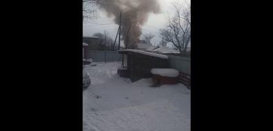 В Южно-Сахалинске произошел пожар вдоме поулице Рязанской