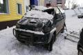 ВКорсакове врезультате падения снега скрыши пострадал водитель автомобиля
