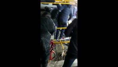 ВЮжно-Сахалинске вкювет опрокинулся большой рейсовый автобус