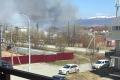 ВТроицком загорелись деревянные постройки