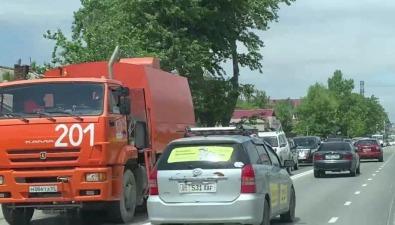 Пылесос возглавил пробку наулице Ленина вЮжно-Сахалинске