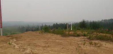 Север Сахалина окутало дымом из-за пожаров наматерике