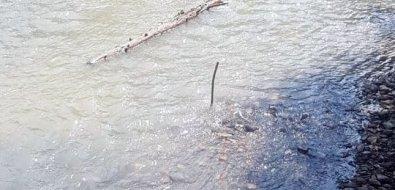 Углегорцы беспокоятся, чтообводной канал, прорытый после оползня дляреки Желтой, не помог