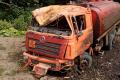 ВУглегорском районе утром перевернулась автоцистерна стопливом