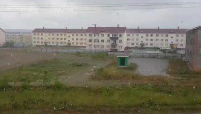 ПоЮжно-Сахалинску бродит дождь