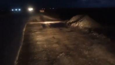 Ремонт дороги оставил сахалинских автомобилистов безшин идисков