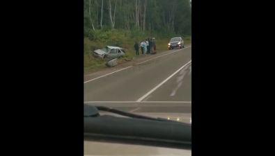 """Водителя """"Тойоты"""" зажало вмашине врезультате ДТП вАнивском районе"""