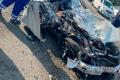 Водитель седана врезался вбольшегруз ипогиб надороге вЛуговое