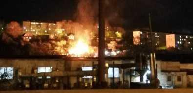 ВКорсакове пожар вчастном секторе