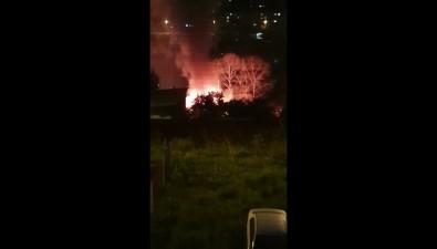 ВКорсакове между Нагорной иСоветской пожар