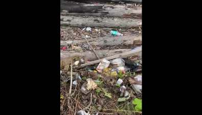 Насахалинском горнолыжном курорте не убирают мусор