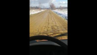Сахалинцы жалуются наужасное состояние дороги вТымовском районе
