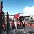 В Южно-Сахалинске установили первый профессиональный гимнастический городок