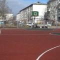В Луговом появилась дворовая баскетбольная площадка