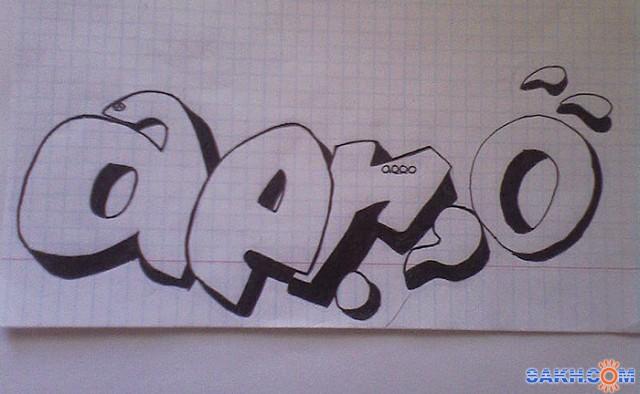 граффити как рисовать лица
