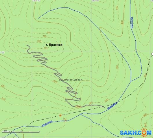 Новая дорога на южном склоне г. Красной, длина 5,3 км